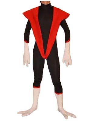 X-men-Nightcrawler Superhero Cosplay Costume Spandex Zentai Bodysuit with Tail for Halloween Party