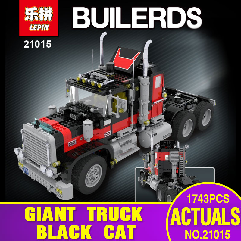 Lepin 21015 1743Pcs Creative Series The American Black Cat Truck Set 5571 Educational Building Blocks Bricks Children Toys Gift