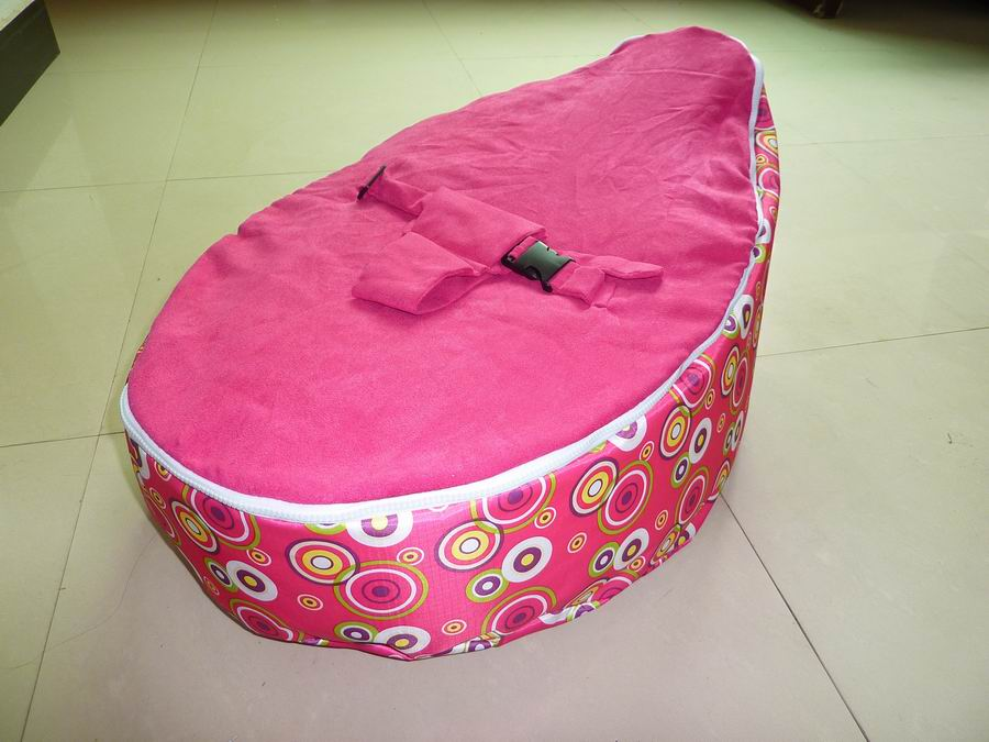 Free Shipping Disco Convertible  Baby Beanbag Chair, Two Tops Baby Beanbags Cover Only Pink