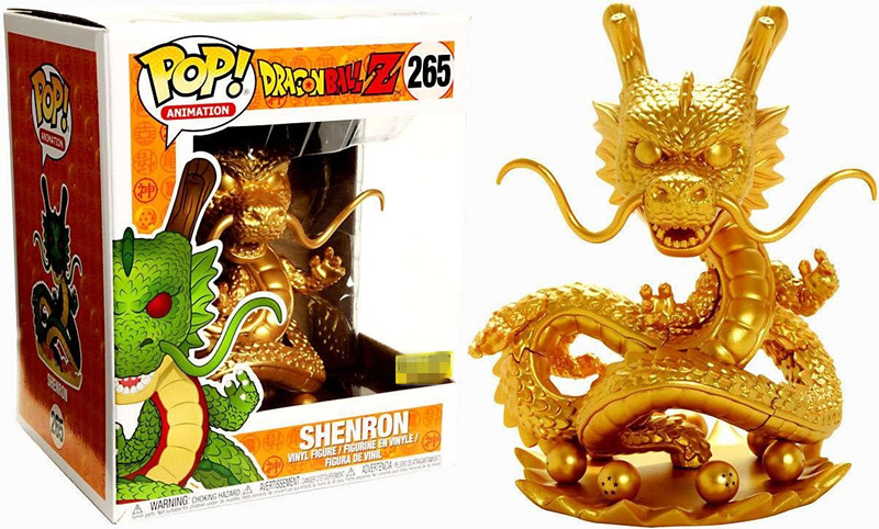 Exclusive 6'' Funko pop Official Amine Galactic Toys Dragon Ball Z - Shenron Gold #265 Collectible Vinyl Action Figure Model Toy nd pre sale new genuine funko pop dragonball z super saiyan goku3 75 inch vinyl dolls dragon ball vinyl figure free shipping