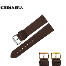CHIMAERA 18mm 19mm 20mm 22mm Coffee Watchband France calf leather Watch band Strap with Pin buckle For Breitling Casio Seiko