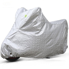 MOTOWOLF Silver Motorcycle Cover Theftproof Outdoor UV Protector Waterproof Dustproof Anti-crash Motorbike Motor Scooter Covers