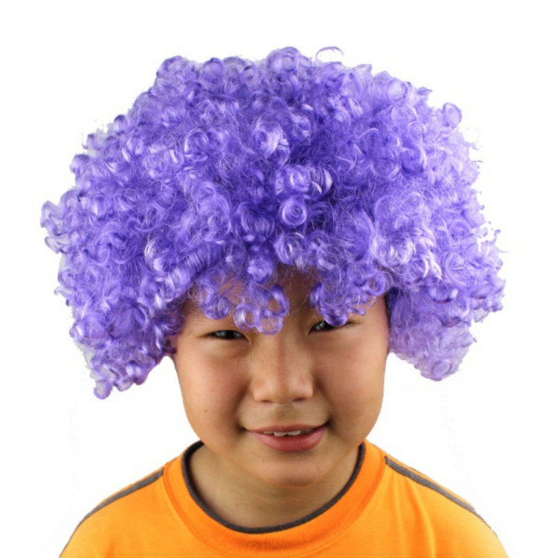 Halloween Clown Curly Afro Circus Fancy Dress Hair Wigs Xmas Party ...