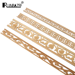 10pcs Wooden Decal Carved Hanging Supplies Corner Appliques Accessories Miniatures Decorative Lines Woodcarving Home Decor