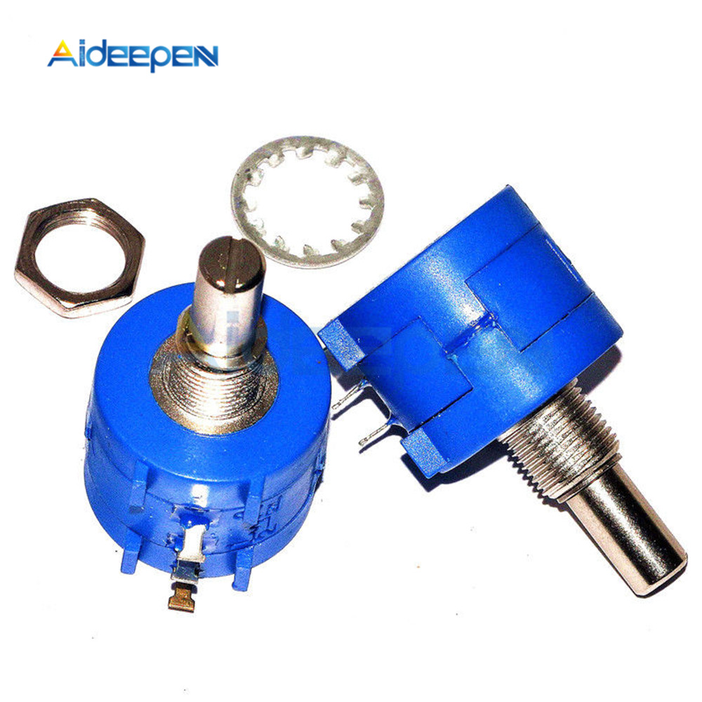 <font><b>3590S</b></font>-<font><b>2</b></font>-<font><b>102L</b></font> 1K Rotary Potentiometer Wirewound Precision Potentiometer Pot 10 Turn 1K Ohm image