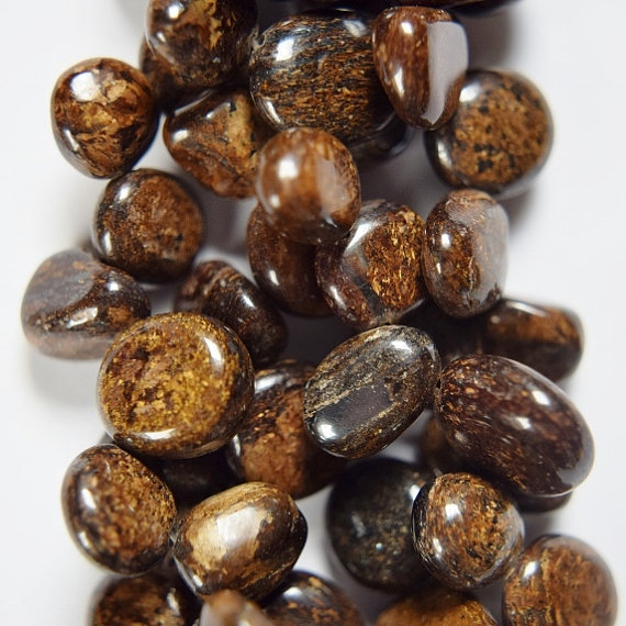 Genuine Bronzite Drop Style Chip Beads, Approx. 8 - 14 Mm Beads - Full Strand 16