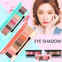 GIVENONE 10 Colors eyeshadow palette Matte EyeShadow Glitter eye shadow MakeUp Nude set Korea makeup pallette