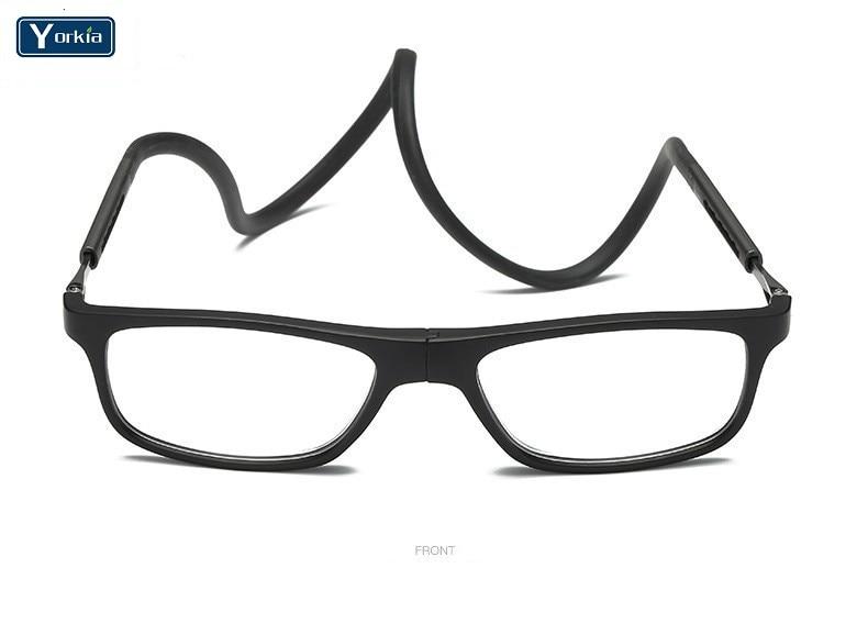 Yorkia Reading Glasses Adjustable Presbyopia Women Unisex Front-Magnet-Connection-Length