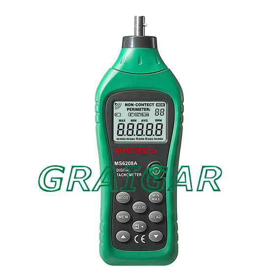 Free Shipping MasTech MS6208A Handheld Digital Tachometer Contact Tach Speedometer Automotive, electronics, etc free shipping mastech ms2138r 4000