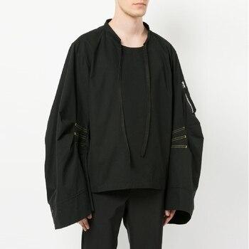 Autumn men's minimalist hooded oversize oversize flared sleeve silhouette for a versatile windbreaker coat. S-6XL!! фото
