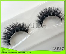 UPS Free shipping 50pair/lot in stock 100% real handmade siberian mink fur strip lashes 3d d008 mink eyelashes