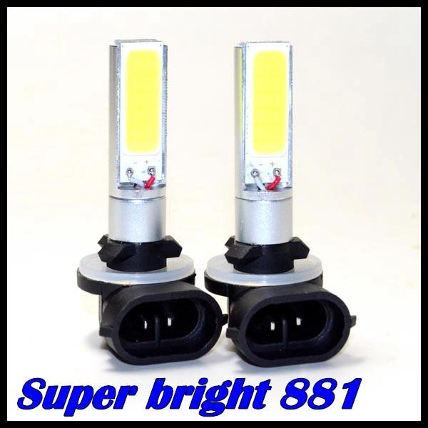 ( 2 unids/lote ) llevó la luz del coche H27 881 cob 10 w smd LED del coche 881 cob alta potencia de luz antiniebla DRL envío gratis
