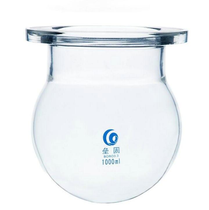 1000ml 2000ml 3000ml Round Bottom Medical grade Boro glass 3 neck glass flask reactor Flask reactor