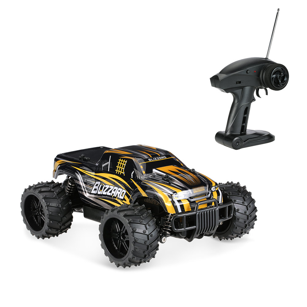 2017 New Electric Rc Car toy 1/16 28cM 27MHz 20KM/H High Speed Remote Control Car Off Road Racing Car Rc Monster Truck VS A959 2017 new 40km h rc high speed car 1 16 proportionl 2 4g 4wd remote control off road monster truck electric power toy vs 94107pro