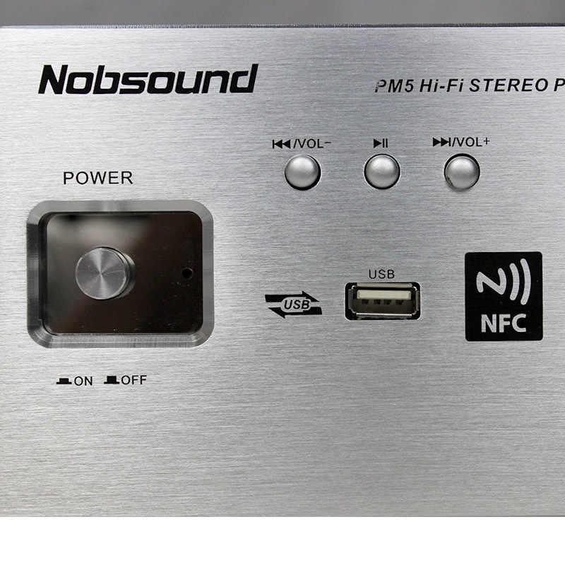Nobsound PM5 250 Вт High End HiFi 2,0 вакуумная трубка стерео усилитель NFC Bluetooth домашней аудио усилителя USB/FLAC/APE 80 Вт + 80 Вт