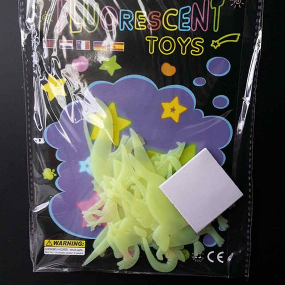 Hot Sale 9 unidades/pacote Glow In The Dark Fluorescente Decal Bebê Crianças Crianças Quarto Home Decoração Dinossauro Adesivos de Parede Luminosa