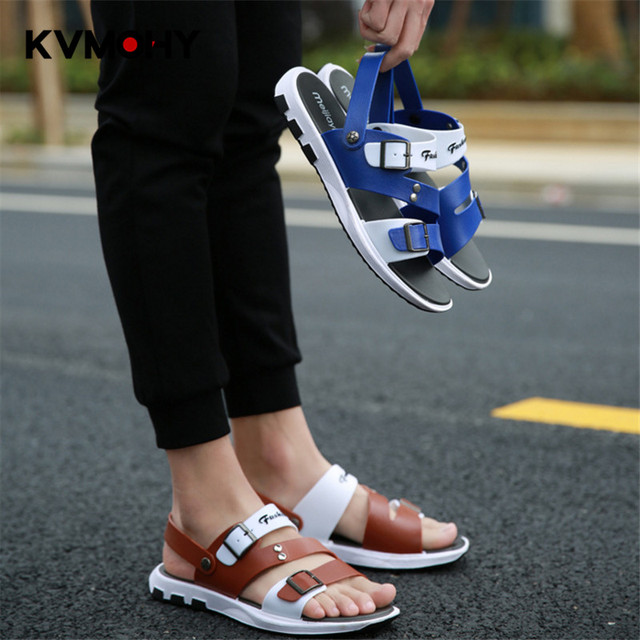 Men Shoes Slippers Mens Word Print Outdoor Beach Flip Flops Soft Flat Platform Male Sandals And slippers Casual Shoe