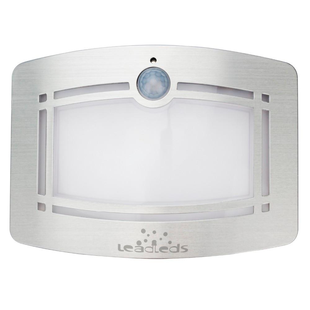 Lámparas de pared LED Sensor de movimiento PIR infrarrojo magnético Luz de noche activada Encendido / apagado automático Funciona con batería para el pasillo del hogar
