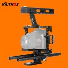 Viltrox 15 мм стержень установка DSLR Камера видео Cage Kit стабилизатор + Топ Ручка для Sony A7 II A7R A7S A6300 A6500 Panasonic GH4 GH3