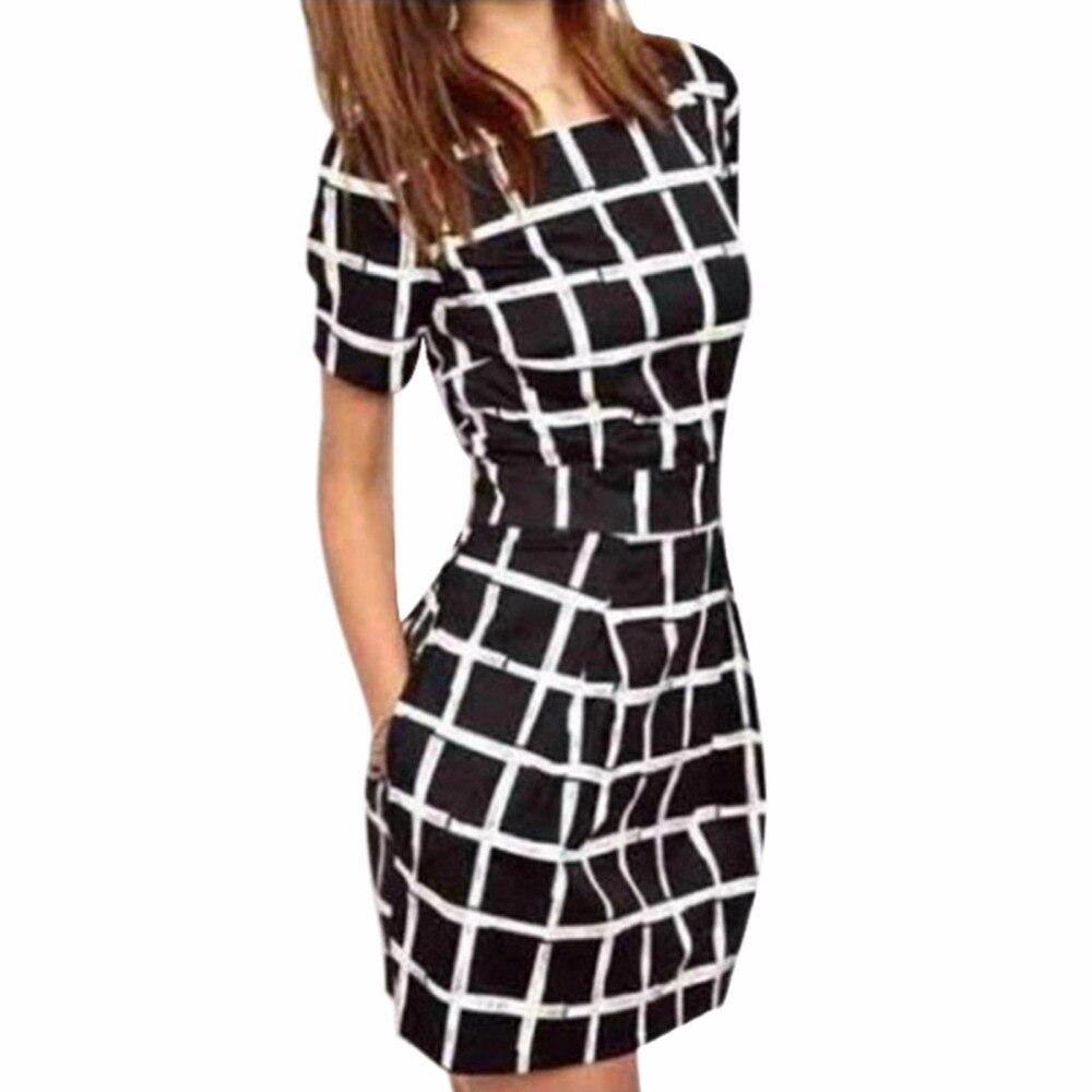 S-xl mujeres del verano vestidos de manga corta negro delgado atractivo de bodyc