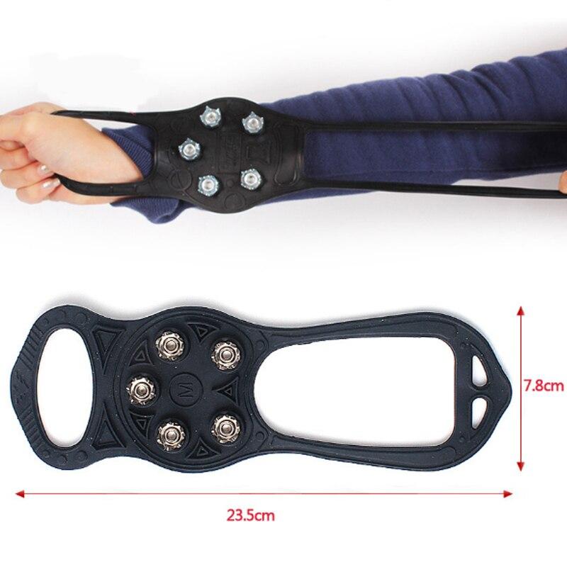1 Pair Anti Slip Grip 5 Metal Teeth Cleats Spikes Shoe Crampons
