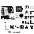 With 1pcs Monopod Sport Action Camera 30M Waterproof sj 4000 Cam Sport Video 1080P wifi Mini Sports DV