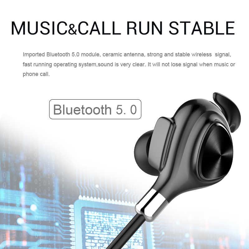 IPUDIS auriculares inalámbricos magnéticos auriculares deportivos estéreo Bluetooth IPX7 auriculares intraurales impermeables con micrófono