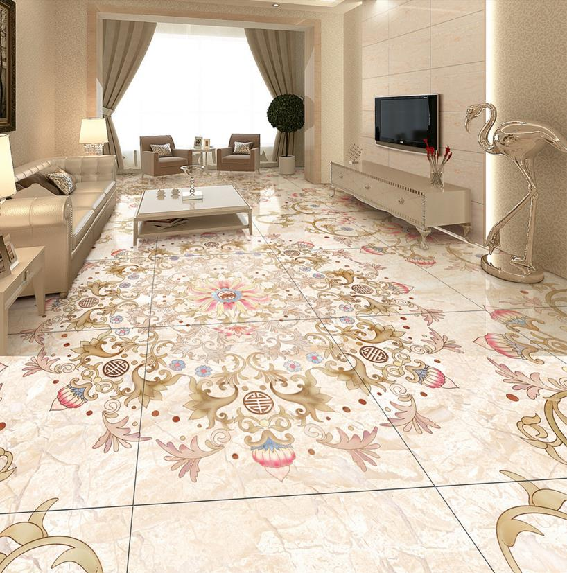 3D Flooring self adhesive Wallpaper For Home Parquet pattern Vinyl Flooring 3D Wallpaper Living room 3D Floor free shipping marble texture parquet flooring 3d floor home decoration self adhesive mural baby room bedroom wallpaper mural