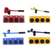 5 In 1 Moves Furniture Tool Transport Shifter Moving Wheel Slider Remover Roller Heavy