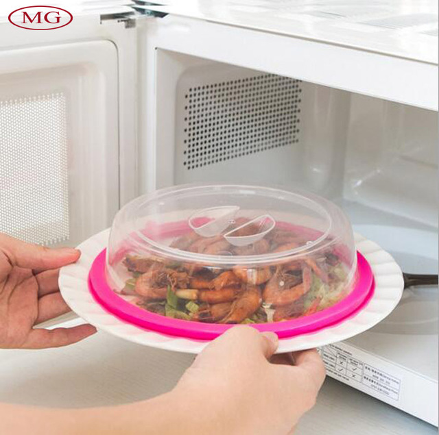 Transpa Food Covers In Microwave Oven Refigerator Oil Cap Heated Sealed Plastic Cover Dish Dishes
