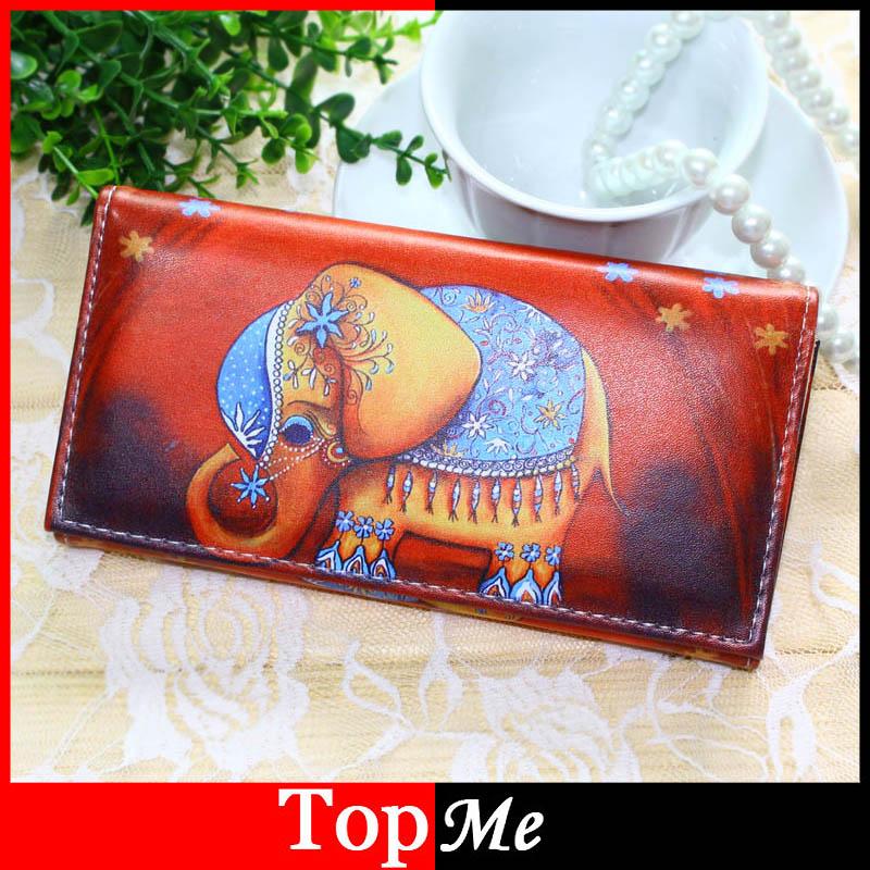 Women Wallets Handbags Long Coin Purse Brand Elephant Pattern Moneybags Girls Lady Purses Long Clutch Wallet Cards ID Holder Bag