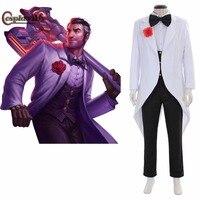 Cosplaydiy Debonair Jayce Cosplay Costume LOL Adult men Carnival Halloween Cosplay Outfit Custom Made JT