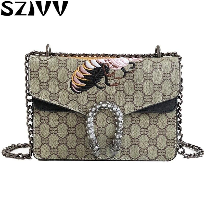 SZIVV New Handbags Women Bags Designer Chain Bag Women Messenger Bags Vintage Small Crossbody Bags For Women 2019 Bolsa Feminina 1