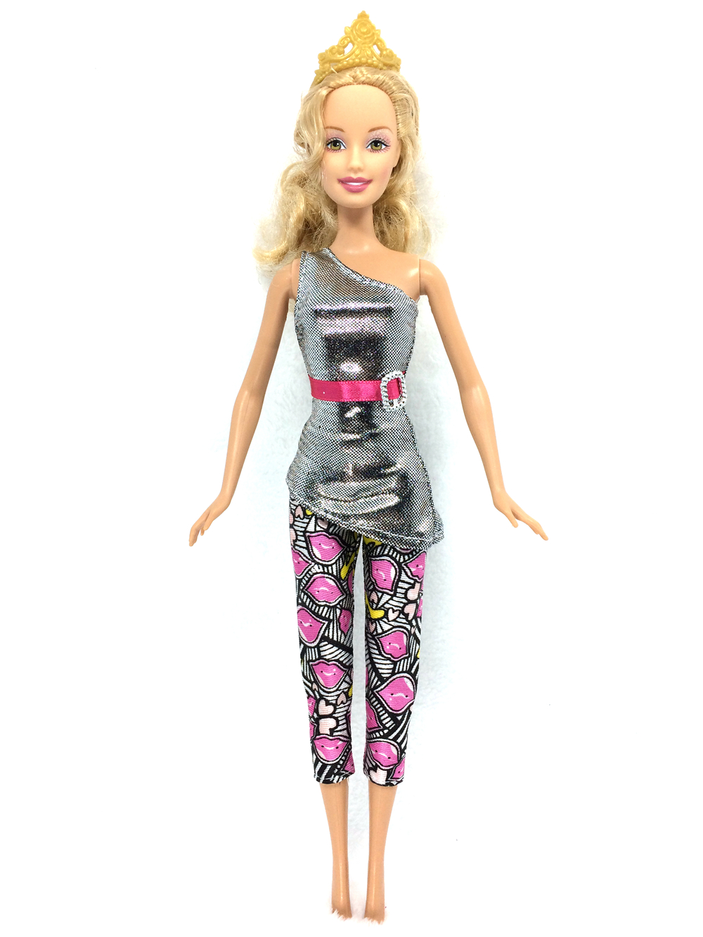 NK 2017 Newest Dolloutift  Beautiful Handmade Party Clothes Top Fashion Dress For Barbie Noble Doll Best Child Girls'Gift 049D