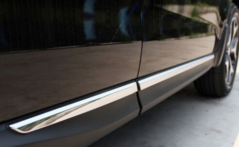 ABS Chrome Side Door Body Molding Moulding Trim For Subaru Forester 2013 2014 car styling abs chrome body side moldings side door decoration for hyundai ix35