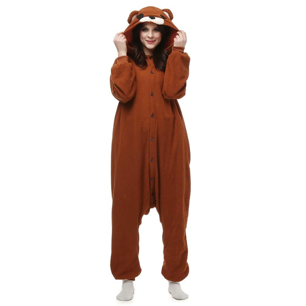 Cosplay Anime Animal Cosplay Tenorikuma Pedo Bear Onesie Adult Women Men's Unisex Pajamas Halloween Carnival Costume