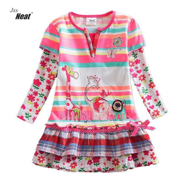 Girl Long Sleeve Dress 2017 Children Kids Girls Spring Girls Baby