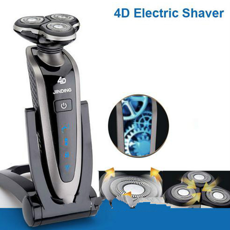 In 2017, the new primitive man shaving machine 4 d waterproof charging crime electric razor, the three razor head man shaved the new visions of crime victims