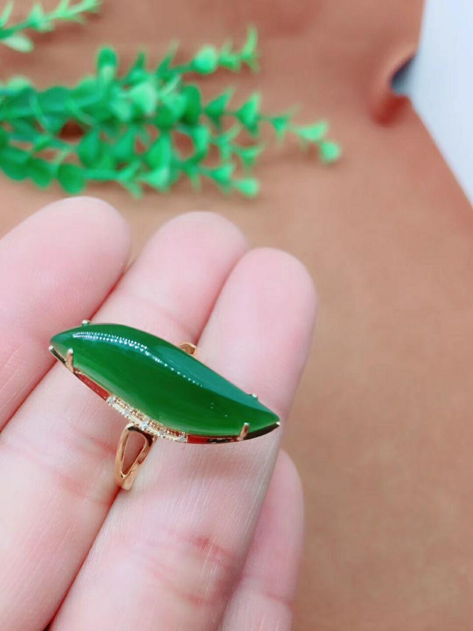 100% jin ring set met tian yu gift certificaat sieraden doos/