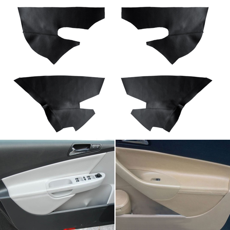 Car Styling Interior Microfiber Leather Door Panel Armrest Cover Protective Trim For VW Passat B6 2006 2007 2008 2009 2010