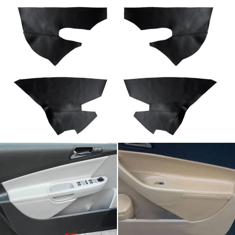 Car Styling Interior Microfiber Leather Door Panel Armrest Cover Protective Trim For VW Passat B6 2006 2007 2008 2009 2010