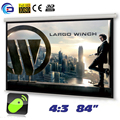84 inches 4:3 Electric Motorized Projector Screen pantalla proyeccion for LED LCD HD Movie Projection Screen