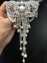Dacqua dolce naturale della perla spilla in argento 925 con zircone cubico nappe della cina di alta qualità modello multa monili delle donne