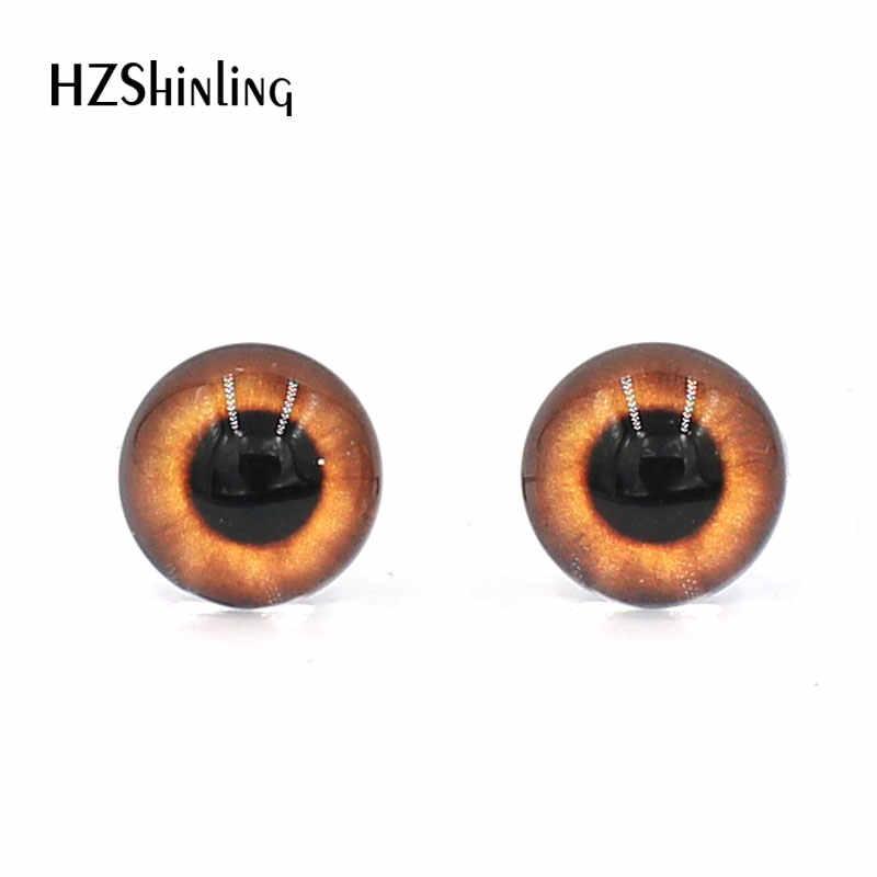 3 pares 12 milímetros Handmade Rodada Coloridos De Vidro Olhos Dragão Monstro Boneca de Brinquedo Olhos Olhos De Vidro Cabochões DIY Animais Animais De Estimação acessório