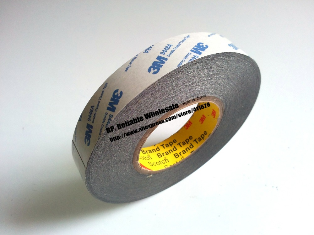(20mm or 21mm/22mm wide)*50M, Original 3M 9448 Double Sided Black Adhesive Tape for Nameplate Bond, Phone/Tablet Screen Reapir 1pcs 18mm x 5mm single sided self adhesive shockproof sponge foam tape 3 meters
