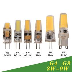 Dimmable led lamp g4 g9 ac dc 12v 220v 3w 6w 9w cob led bulb mini.jpg 250x250