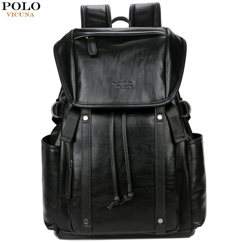 Викуньи поло шнурок открытый большой емкости бизнес ноутбук рюкзак бренд черный путешествия рюкзак сумка Школьный Рюкзак Для Подростка