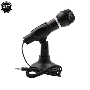 Condenser Microphone 3.5mm Plug Home Stereo MIC Desktop Stand for PC YouTube Video Skype Chatting Gaming Podcast Recording