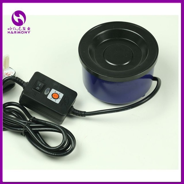 Wholesale 1 Piece Adjustable Temperature keratin Melt Glue Hot Pot with Different Plug US, EU, AU and UK for you selection