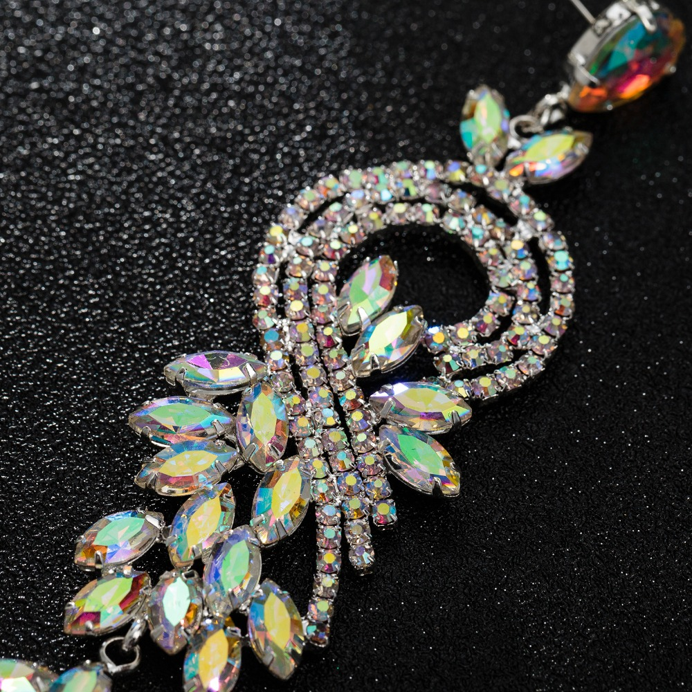 Multicolor Crystal Dangle Earrings